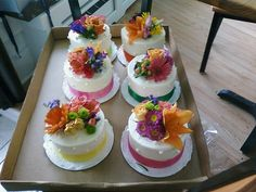Individual Flower Table Cake Centerpiece... by Delicately Delicious, via Flickr
