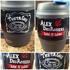 Theta Chi Jack Daniels hand painted bubba keg by Emily Perry