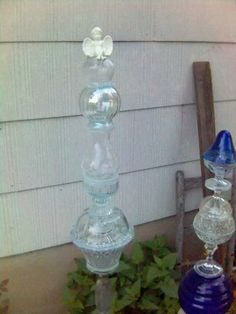 Glass totem by Wantmoreroses (I have to remember two bowls together can make a sphere.)
