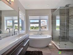 Basement Remodel Diy, Basement Remodeling, Dream Bathrooms, Beautiful Bathrooms, Laundry In Bathroom, Modern House Design, Bathroom Inspiration, Ideal Home, Interior Design Living Room
