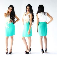 Hermoso vestido color block ♥ recién llegado ;) info por inbox ;) #beauty #outfit #StreetStyle #itgirl #fresco #trendy #summer #shop #love