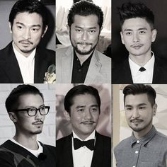 Chinese male celebrities from Hong Kong. Andy Lau. Louis Koo. Bosco Wong. Nic Tse. Tony Leung. Ruco Chan.  Instagram photo by @chinese_entertainment_share • https://instagram.com/p/BKc4H_ij1BA/
