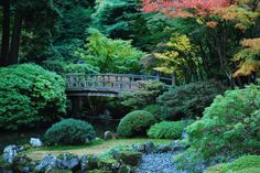 Japanese Gardens, located within Washington Park in the West Hills of Portland, Oregon