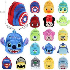 Cartoon Plush Backpack Shoulder Schoolbag Rucksack Toddler Bags For Baby Kids Toddler Bag, Baby Kids, Baby Boy, Mcm Backpack, Back Bag, Cute Stationery, Girls Bags, Cute Bags, Pencil Pouch