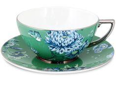 Peter's of Kensington | Wedgwood - Jasper Conran Chinoiserie Green Teacup & Saucer