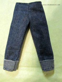 Barbie blue jeans pattern an tutorial