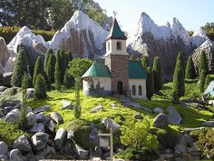 Church in Pinocchio's Village . Storybook Land Canal Boats .
