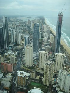 View from Skypoint Tower, Gold Coast, Queensland Responsible Travel, Gold Coast, New York Skyline, Tower, Australia, City, Rook, Computer Case, Cities