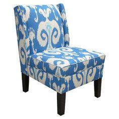 Skyline Furniture Wingback Fabric Slipper Chair
