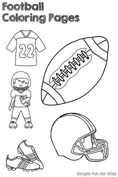 Get ready for the football season with Football Coloring Pages! (Pdf file ensures proper printing!) Sports Activities For Kids, Kids Sports, Preschool Activities, Football Coloring Pages, Preschool Coloring Pages, Football Themes, Football Crafts Kids, Football Cakes, Sports Drawings