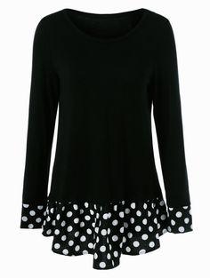 Polka Dots •~• black & white tunic
