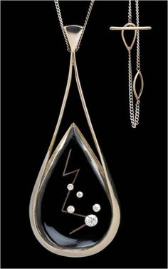 Margaret De Patta, Pendant, 1960, white gold, quartz, diamonds, 76 x 29 x 10 mm without chain, Museum of Arts and Design, New York, Gift of Eugene Bielawski, The Margaret De Patta Bequest, through the American Craft Council, 1976, photo: John Bigelow Taylor