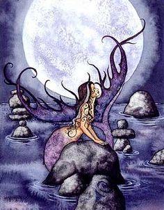 "Risultati immagini per ""amy brown art"" Real Mermaids, Mermaids And Mermen, Amy Brown Fairies, Mermaid Pictures, Mermaid Fairy, Postcard Art, Beautiful Fantasy Art, Fantasy Kunst, Fairy Art"