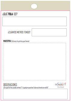 Etiquetas descargables para mantener tus telas siempre ordenadas - Skarlett Costura