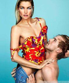 RJ King y Jessica Hart para Harper's Bazaar México por Alexei Hay