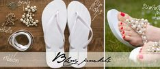 DIY glamour jandals