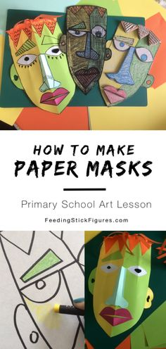 Paper Mask Making Art Ideas For Teens, Art Projects For Teens, Art Activities For Kids, School Art Projects, Art For Kids, Paper Art Projects, Stem Projects, Secondary School Art, Art School