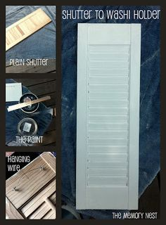 The Memory Nest: Shutters: Decor and Pinterest Inspired Storage