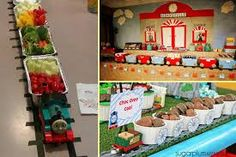 All Aboard! 16 Ideas for an Outstanding Train Party - Brisbane Kids Thomas The Train Birthday Party, Trains Birthday Party, 4th Birthday Parties, 2nd Birthday, Birthday Ideas, Train Party Decorations, Brisbane Kids, Idee Diy, Diy For Kids