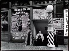 Blossom Restaurant, 103 Bowery, Manhattan | Photo by Berenice Abbott