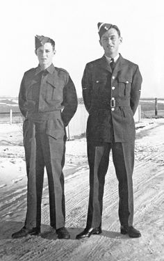 """Boy Soldier"" James Light, left, aged 14, poses in 1941 with his older brother, nineteen-year-old RCAF pilot Alan Light. Alan was killed not long afterwards in a training accident."