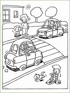 Letter T Activities, Kindergarten Activities, Preschool Activities, Preschool Coloring Pages, Colouring Pages, Coloring Books, Safety Rules For Kids, Bus Crafts, Picture Comprehension