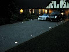 Brick / Paver Lights – Low Voltage Lighting Kits by Kerr Lighting – KPAV Related posts: Paver/Brick Lights Kit with Transformer & Cable 55 Easy and Creative DIY Outdoor Lighting Ideas DIY Outdoor Lighting Ideas Dyson lightcycle desk lamp Modern Driveway, Driveway Paving, Asphalt Driveway, Driveway Entrance, Driveway Landscaping, Concrete Driveways, Brick Pavers, Circle Driveway, Landscaping Software