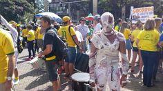 Weder Soares de Oliveira, 47 anos, participa de protesto em MG