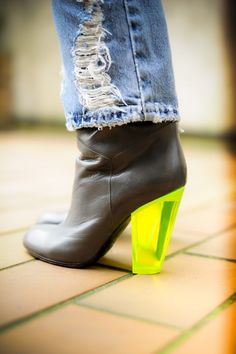 My Marc by MJ boots with a neon heel
