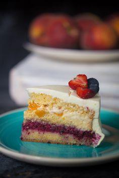 Cake Recipes, Dessert Recipes, Desserts, Food Cakes, Something Sweet, Vanilla Cake, Mousse, Beverage, Bacon