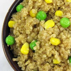 Savory Quinoa with Corn and Peas | Made Just Right by Earth Balance vegan plantbased
