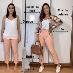Photo by Poder do Estilo in Brasília, Brazil with L'image contient peut-être : 2 personnes, personnes debout, chaussures et texte Short Girl Fashion, Work Fashion, Fashion Looks, Plus Fashion, Womens Fashion, Petite Outfits, Casual Outfits, Fashion Outfits, Outfit Combinations