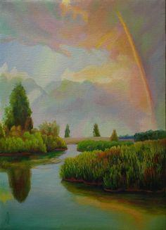 После дождя - Игорь Юдин. Картины современных художников, живопись со всего мира