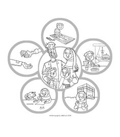 New Muslim Kids Coloring Page Islam Is Happiness