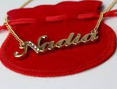Name Necklace Nadia - Gold Plated Personalised Necklace with Swarovski Crystals Monogrammed Gifts For Her, Monogram Gifts, Name Bracelet, Name Necklace, Cute Letters, Name Wallpaper, Alphabet Design, Stylish Girl Images, Floral Arrangements