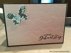 Stampin Up, Geburtstagskarte, Birthday Card, Schmetterlingsschwarm, Butterfly, Schmetterling, Schmetterlingsgsruß