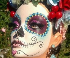 Dia de muertos-Mexico, cultura, tradicion - Calavera Catrina Day of the death Day Of Dead, Day Of The Dead Party, Maquillaje Sugar Skull, Fall Halloween, Halloween Costumes, Homemade Halloween, Halloween Halloween, Vintage Halloween, Fantasy Makeup