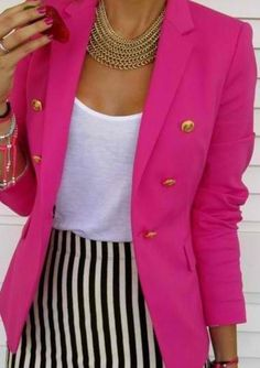 pink blazer :) this is a look that will take you thru the entire day.