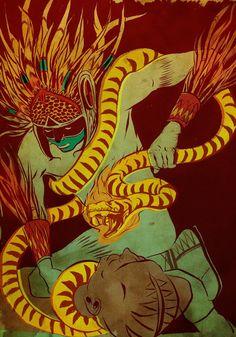 aztec ~from Creation Myths by Noah MacMillan