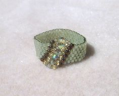 Woven Ring  Cathedral Crystal by jewelryinvegas on Etsy, $20.00