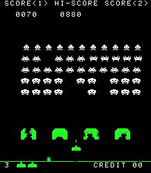 Space Invaders. Spent an awful lot of time at the arcade at Sea World, under the Water Ski Stadium, playing this.