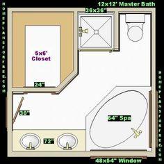 Best Bathroom Design Floor Plans On Free 10X14 Master Bath 400 x 300
