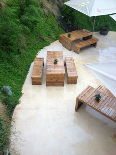 Awesome picnic tables