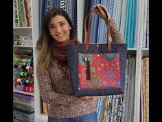Recycle Jeans, Patchwork Bags, Fabric Bags, Beach Tote Bags, Cute Bags, Knitted Bags, Purses And Bags, Sewing, Origami