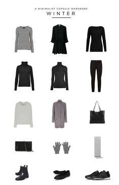 Winter, minimalist capsule wardrobe #womensfashionminimalist