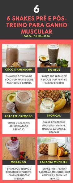 6 Shakes Pré e Pós-Treino Para Ganho Muscular Detox Recipes, Healthy Recipes, Detox Foods, Diet Detox, Smoothies Detox, Healthy Life, Healthy Eating, Menu Dieta, Cure Diabetes Naturally