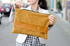 DIY Leather Strap Clutch Tutorial + Giveaway