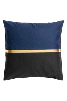 Block-patterned cushion cover - Dark blue/Gold-coloured - Home All | H&M GB 1