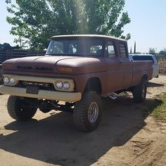 "59 Likes, 2 Comments - Gilbert (@1966chevycrewcab) on Instagram: ""1966 GMC Crew Cab 4x4 #1966 #crewcab #chevy #gmc #4×4"""