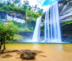 Huai Luang Waterfall, Thailand puzzle in Waterfalls jigsaw puzzles on TheJigsawPuzzles.com. Play full screen, enjoy Puzzle of the Day and thousands more.